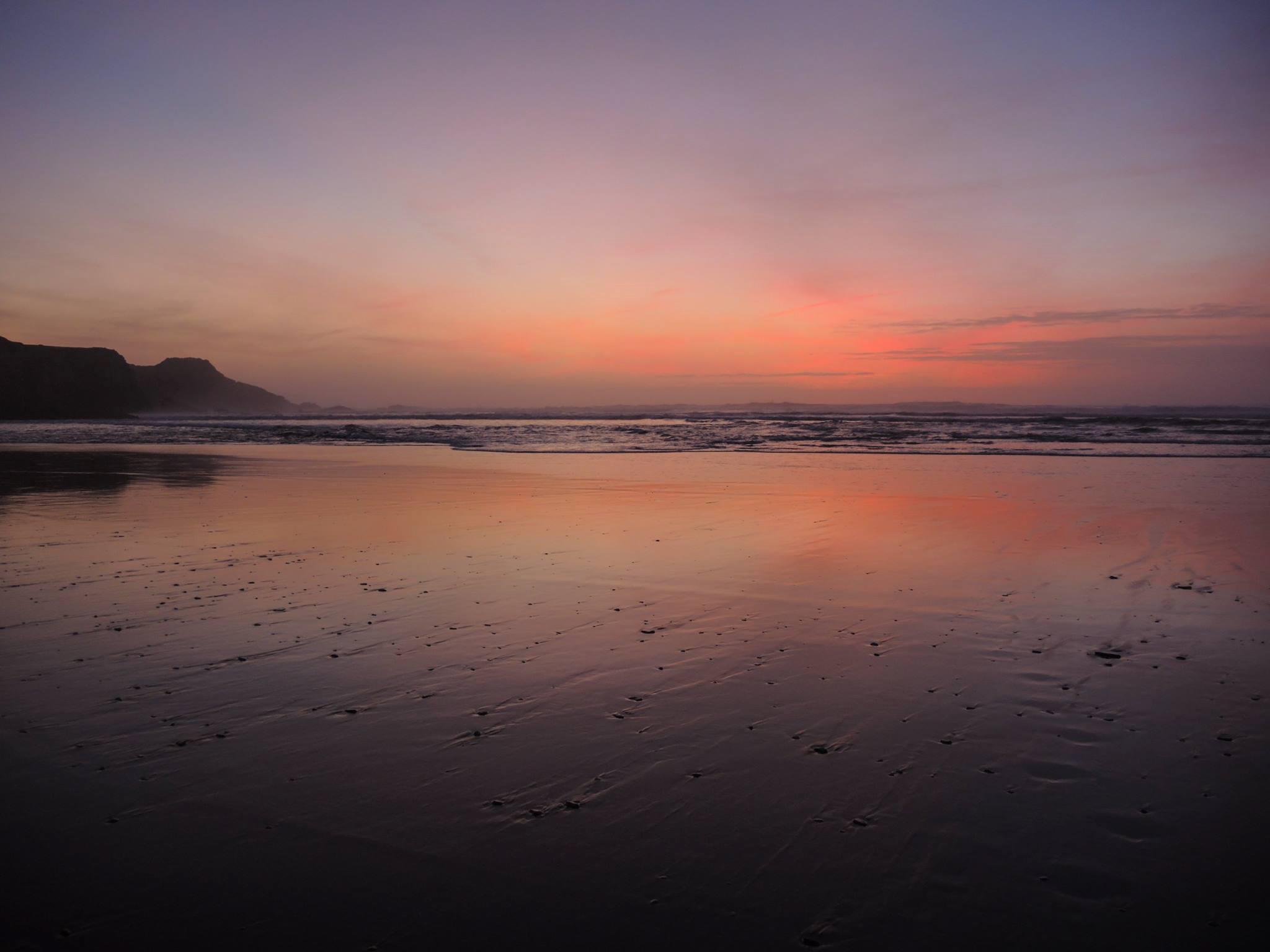 Sunset at Odeceixe beach